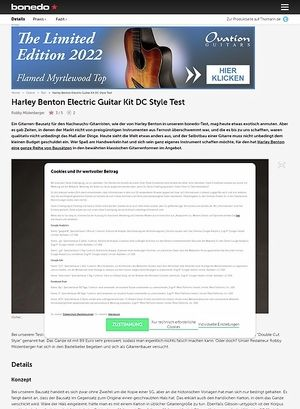 Bonedo.de Harley Benton Electric Guitar Kit DC Style