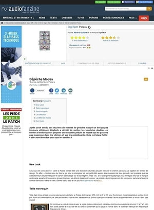 Audiofanzine.com DigiTech Polara