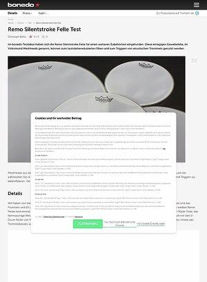 Bonedo.de Remo Silentstroke Felle