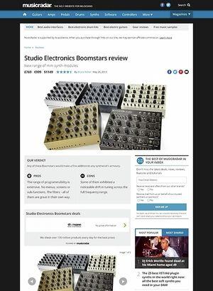 MusicRadar.com Studio Electronics Boomstars