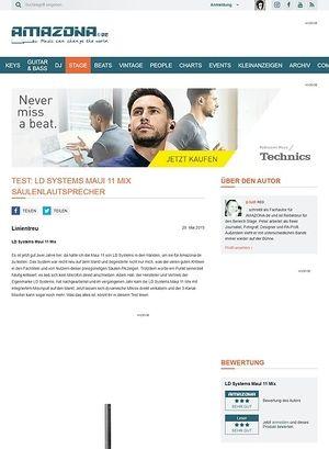 Amazona.de Test: LD Systems Maui 11 Mix, Säulen-PA