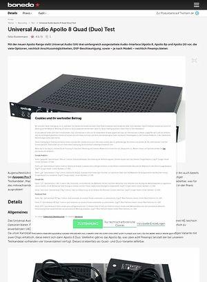Bonedo.de Universal Audio Apollo 8