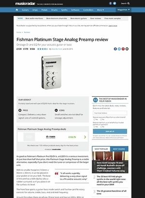 MusicRadar.com Fishman Platinum Stage Analog Preamp