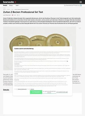 Bonedo.de Zultan Z Becken Professional Set