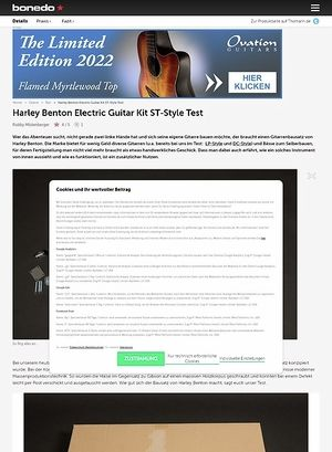 Bonedo.de Harley Benton Electric Guitar Kit ST-Style