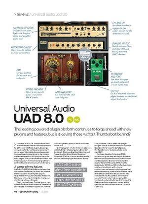 Computer Music Universal Audio UAD 8.0