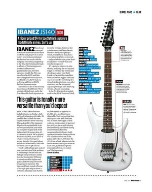 Total Guitar Ibanez JS140