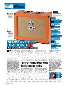 Total Guitar Orange Rockerverb 50 MkIII Combo