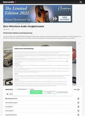 Bonedo.de Elvis-Mikrofone Audio-Vergleichsseite