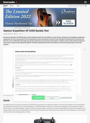 Bonedo.de Samson Expedition XP 1000 Bundle