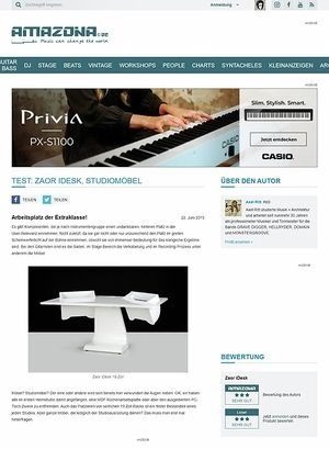 Amazona.de Test: Zaor iDesk, Studiomöbel