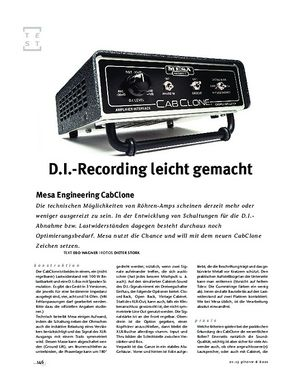 Gitarre & Bass Mesa Engineering CabClone, Load- & DI-Box
