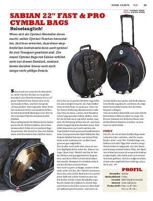 Sticks Sabian Fast & Pro Cymbal-Bags - Transportschutz für unsere Lieblinge
