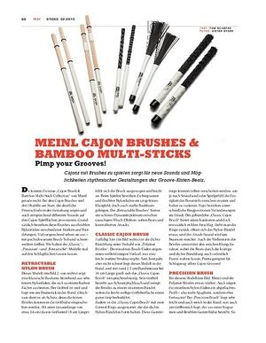 Sticks Meinl Cajon Brushes & Bamboo Multi-Sticks
