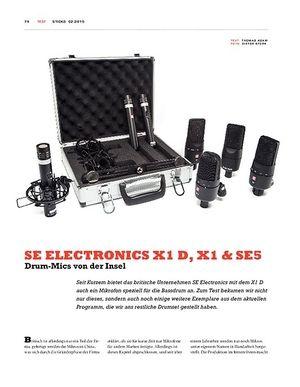 Sticks SE Electronics X1 D, X1 & SE5