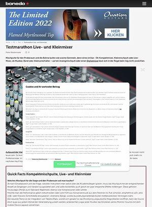 Bonedo.de Testmarathon Live- und Kleinmixer