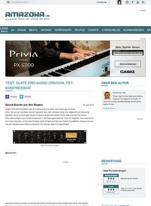 Amazona.de Test: Slate Pro Audio Dragon, FET-Kompressor