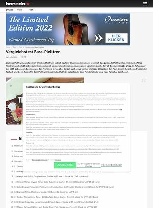 Bonedo.de Testmarathon Bass-Plektren