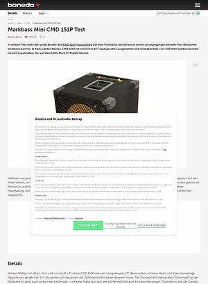 Bonedo.de Markbass Mini CMD 151P