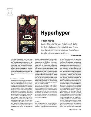 Gitarre & Bass T-Rex Nitros, Verzerrer-Pedal