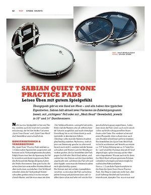 Sticks Sabian Quiet Tone Practice Pads