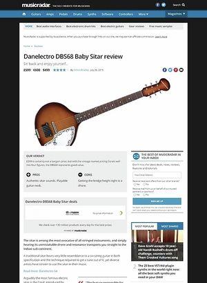 MusicRadar.com Danelectro DBS68 Baby Sitar