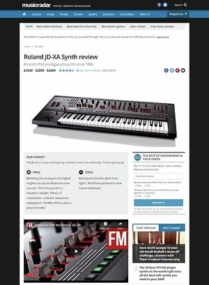 MusicRadar.com Roland JD-XA Synth