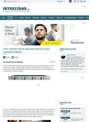 Amazona.de Test: Rupert Neve Designs Portico 5024, Vorverstärker