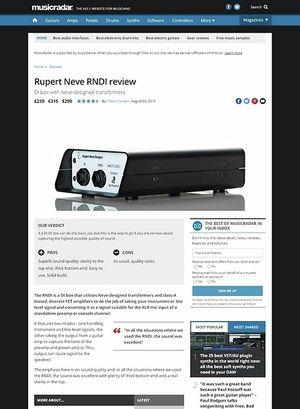 MusicRadar.com Rupert Neve RNDI
