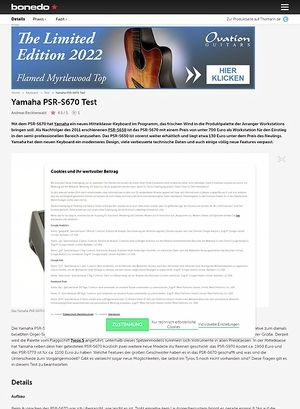 Bonedo.de Yamaha PSR-S670