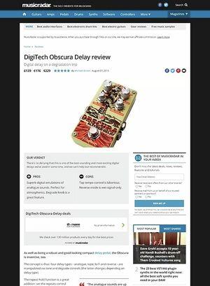MusicRadar.com Digitech Obscura Delay