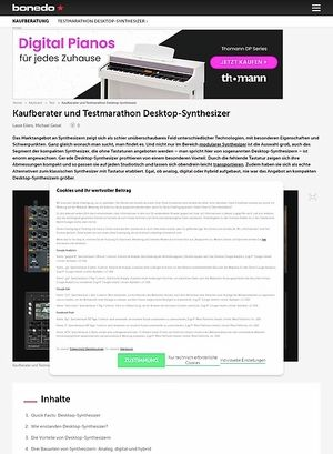 Bonedo.de Test-Marathon Desktop-Synthesizer