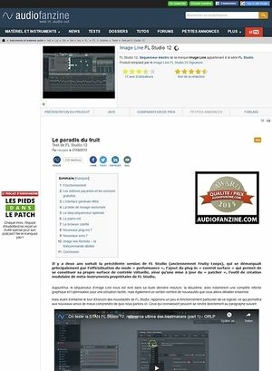 Audiofanzine.com Image Line FL Studio 12