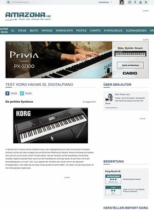 Amazona.de Test: Korg Havian 30, Digitalpiano