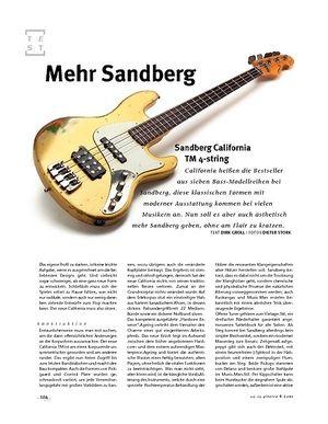 Gitarre & Bass Sandberg California TM 4-string, E-Bass
