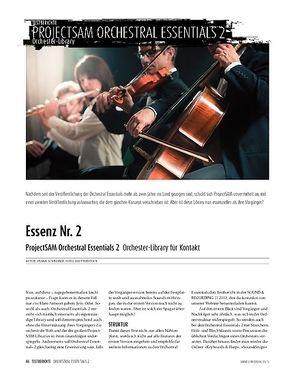 Sound & Recording ProjectSAM Orchestral Essentials 2 - Orchester-Library für Kontakt