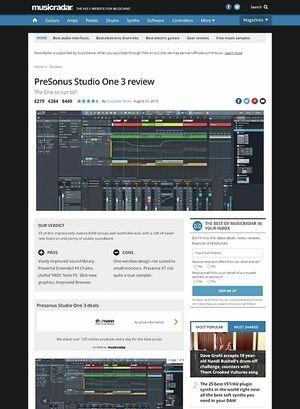 MusicRadar.com PreSonus Studio One 3