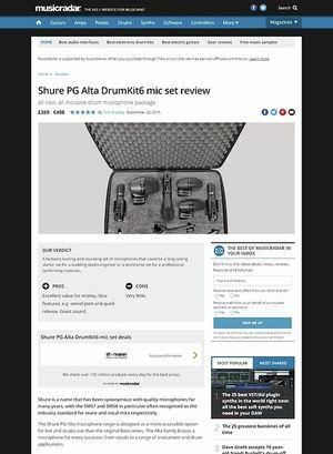 MusicRadar.com Shure PG Alta DrumKit6