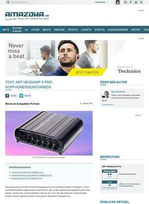 Amazona.de Test: ART Headamp 4 Pro, Kopfhörerverstärker