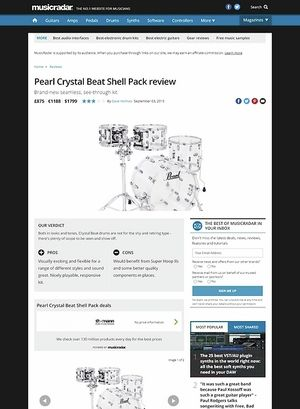 MusicRadar.com Pearl Crystal Beat Shell Pack