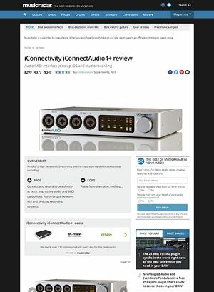 MusicRadar.com iConnectivity iConnectAudio4+
