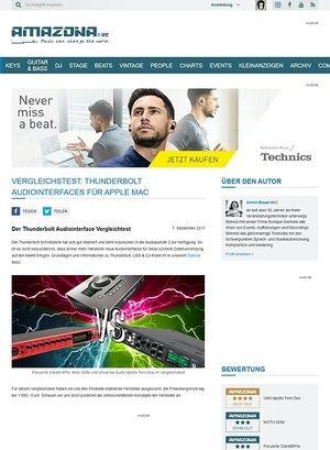 Amazona.de Vergleichstest: Focusrite Clarett 8Pre, Motu 828x, Universal Audio Apollo Twin Duo, Thunderbolt Audiointerfaces