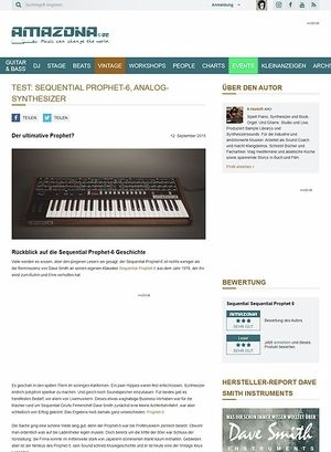 Amazona.de Test: Sequential Prophet-6, Analog-Synthesizer