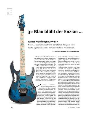 Gitarre & Bass Ibanez Premium JEM77P-BFP, E-Gitarre