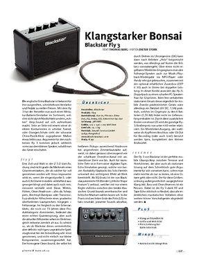 Gitarre & Bass Blackstar Fly 3, Mini-Amp