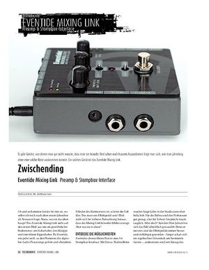 Sound & Recording Eventide Mixing Link - Preamp & Stompbox-Interface