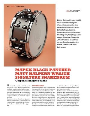 Sticks Mapex Black Panther Matt Halpern Wraith Signature Snaredrum