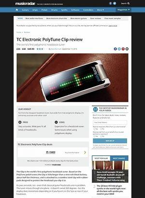 MusicRadar.com TC Electronic PolyTune Clip
