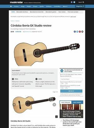 MusicRadar.com Cordoba Iberia GK Studio