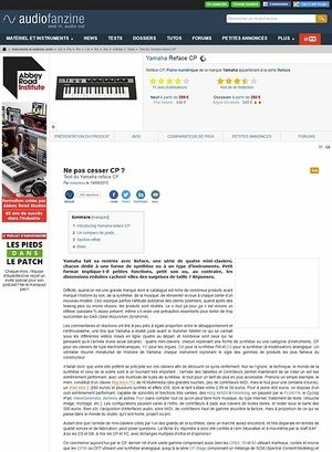 Audiofanzine.com Yamaha Reface CP